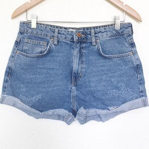 Forever21 LA high rise denim mom jean shorts sz 29